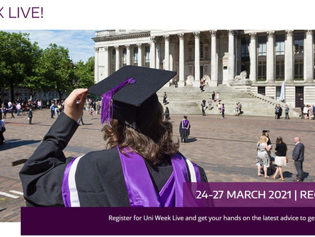Uni Week Live! Delivered by Uni of Portsmouth (Yr 11+, 24 - 27th March)