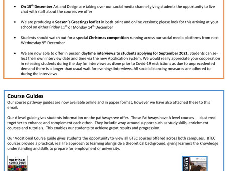 Further Education at New College Swindon (Year 10+)