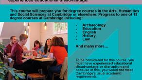 Cambridge Open Days & Foundation Year (Yr 12-13, 13-26th Sept)