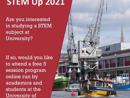 Stem Up! - new online programme (Year 12, April 2021)