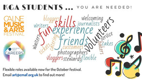 Volunteers Needed for Calne Music & Arts Festival October 2021.(All years, apply by 24th Sept)