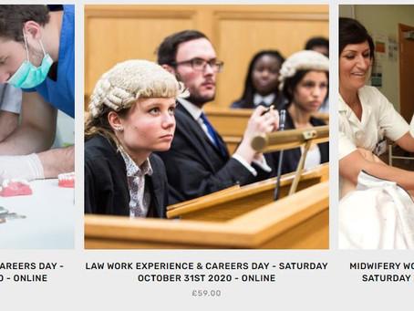 VWEX: Airline Pilot, Medicine, Vet, Law, Midwifery plus more (Age 14-17, Autumn dates)