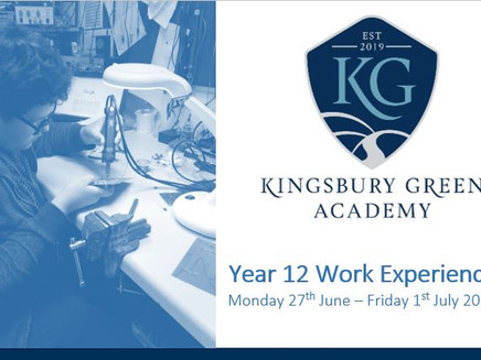 KGA Yr 12 Work Experience (Mon 27th June - 1st July 2022)