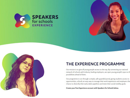Virtual Work Experience Listing - Speakers for Schools (Yr 10+, Various dates Mar - Aug 2021)