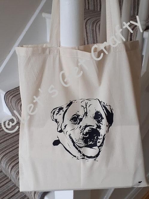Personalised Line Drawn Pet Tote Bags