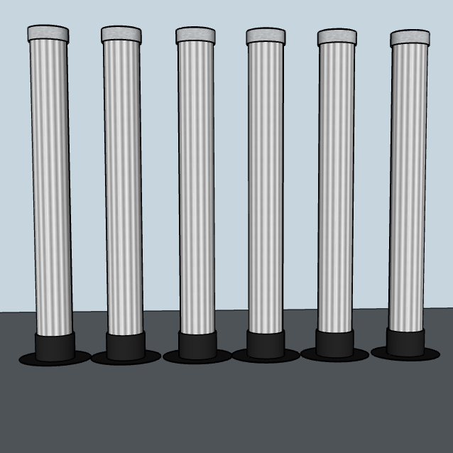 6 LaX Tubes