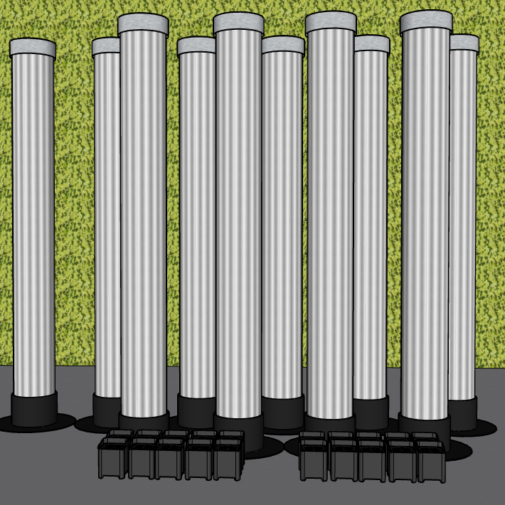 10 LaX Tubes + 20 Uplights