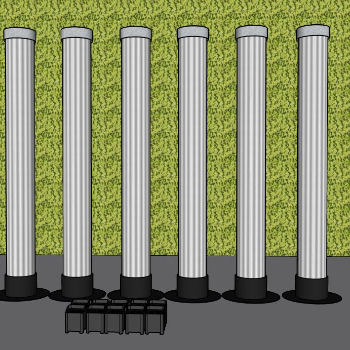 6 LaX Tubes + 10 Uplights