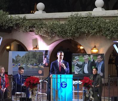 Eric Garcetti mayor of Los Angeles press event