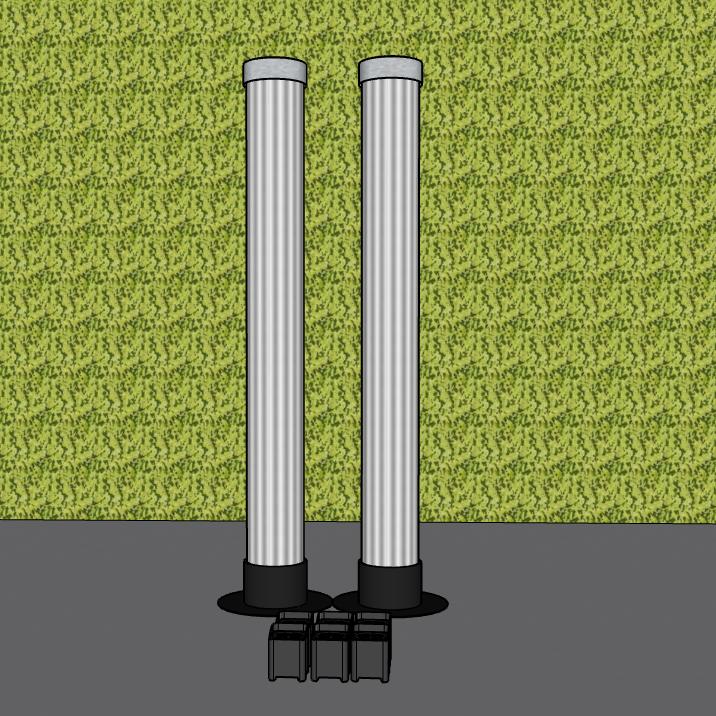 2 LaX Tubes  + 6 Uplights