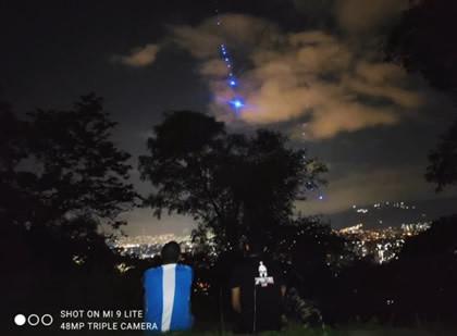 ufoja valoilmiö kolumbia medellin sgl