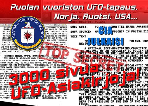 CIA Julkaisi 3000 Sivua Salaisia Asiakirjoja - UFO-Tietoa Julki