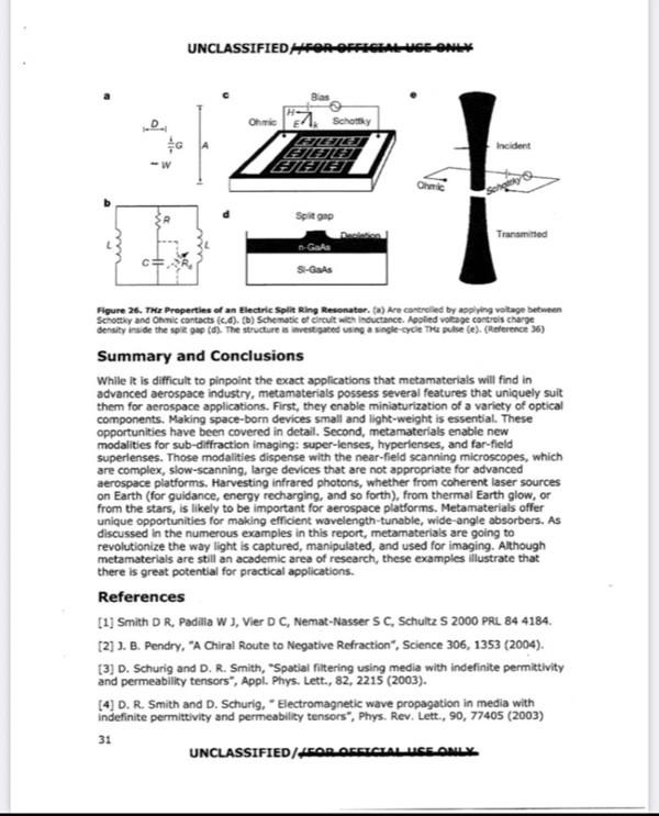 Salainen asiakirja kertoo metamateriaaleista