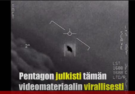 Pentagon ja USA:n laivasto myönsi UFO:jen olemassaolon