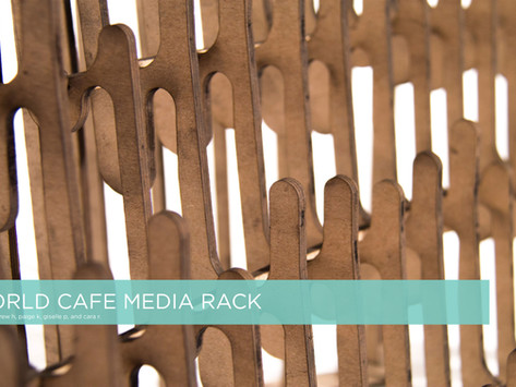 World Café: Print Media Rack