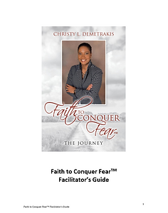 Faith to Conquer Fear Series Facilitator Guide