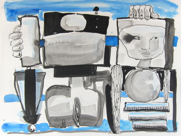 "Mary Jones - ""Stacked (Dementia Drawings)"""