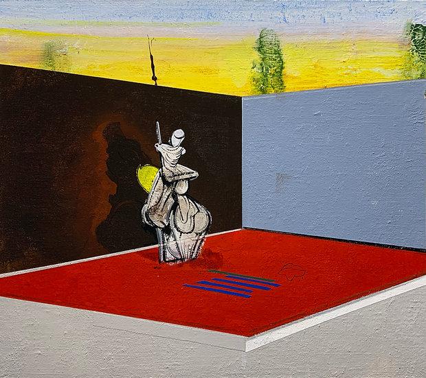 "Robert Weiss - ""Yard with Lunatic (After Goya)"""