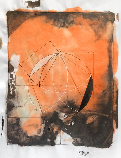 "Mary Jones - ""Sacred Geometry, Workbook 5, Drawing 5.4 - The Golden Proportion"""
