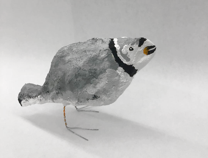 "Mary-Ann Monforton - ""Plover"" (sculpture + drawing)"