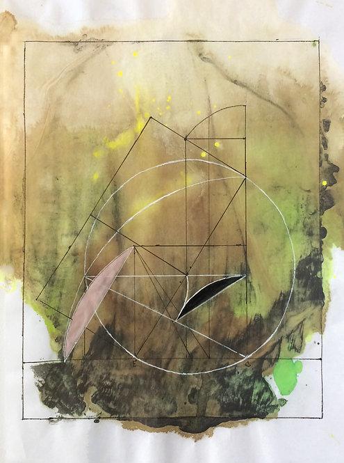 "Mary Jones - ""Sacred Geometry, Workbook 5, Drawing 5.5 - The Tomb of Petosiris"""