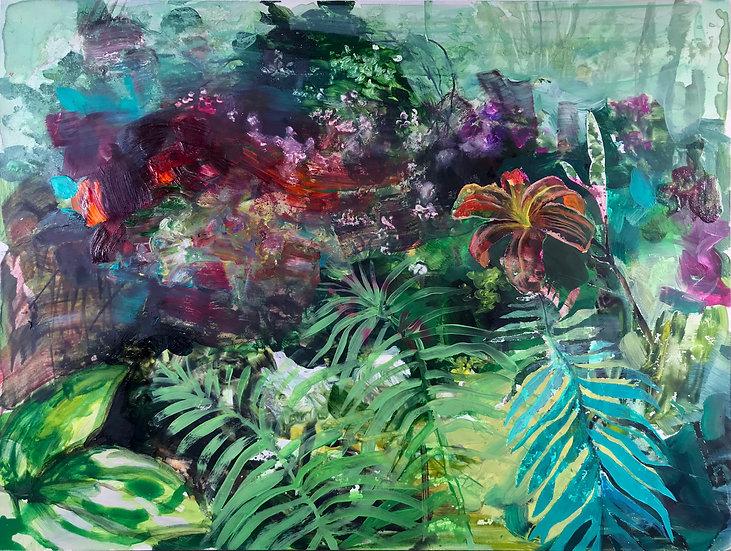 "JD Raenbeau - ""Daylillies and Ferns"""
