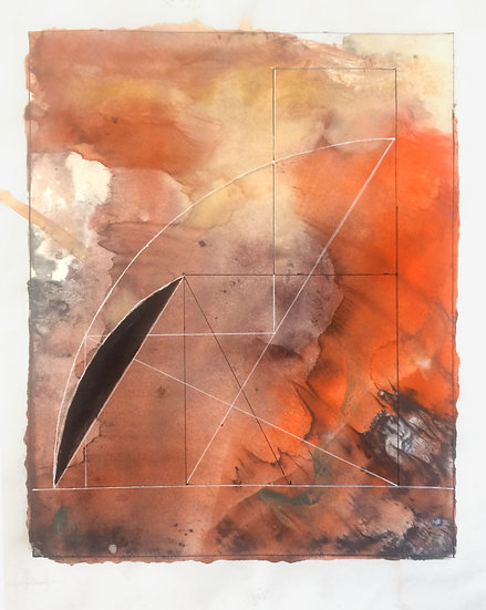 "Mary Jones - ""Sacred Geometry, Workbook 5, Drawing 5.3 - The Tomb of Petosiris"""