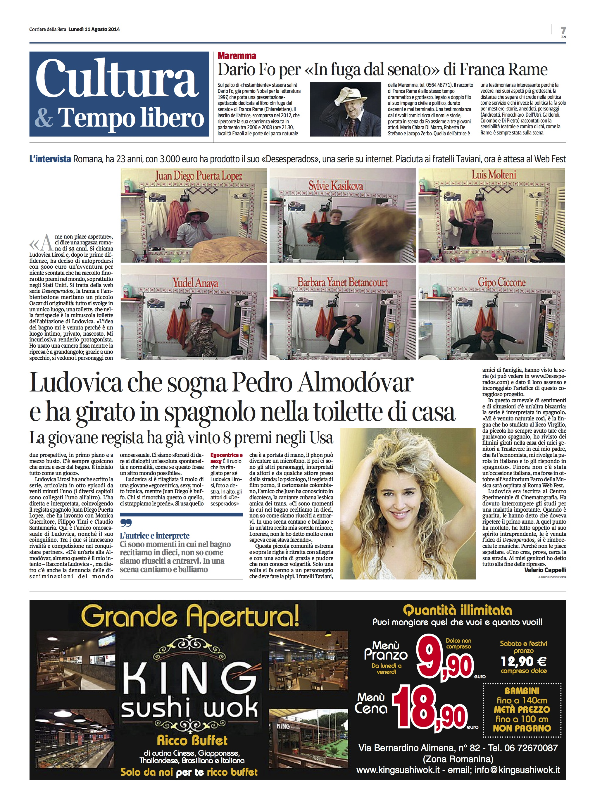 LUDOVICA LIROSI NEWS