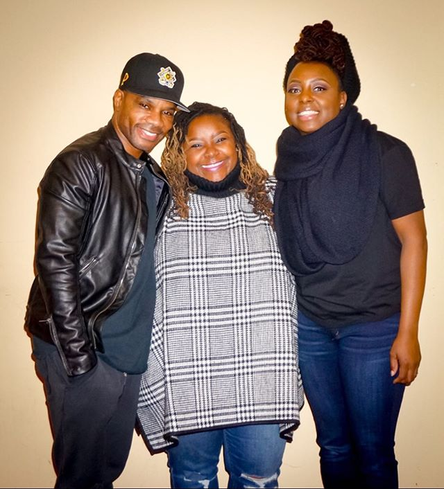 Still can't believe this dude is actually a few inches taller than me 🧐🤨🤣 _kirkfranklin _ledisi G