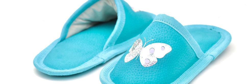Usnjeni otroški natikači -Turkizen metuljček