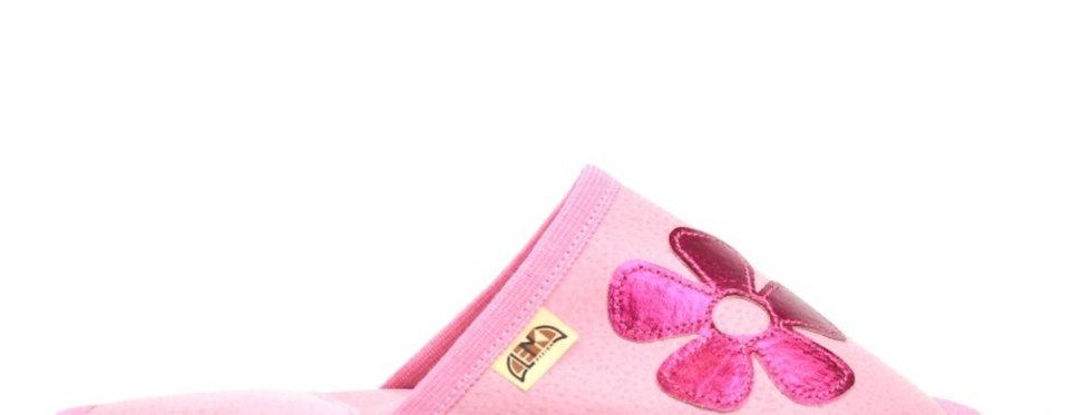 Usnjeni Copati Trend - Roza s svetlečo rožico