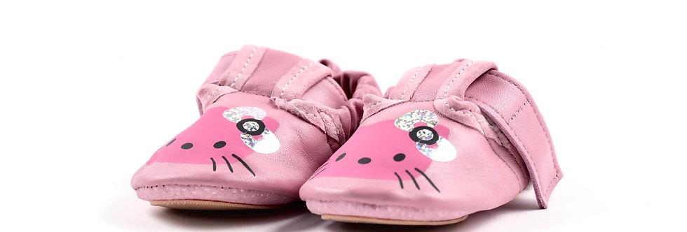 BabySoft copatki - Krem roza kitty