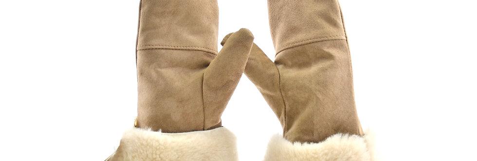 Krznene rokavice - Bež