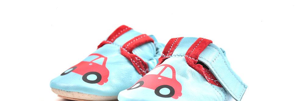 BabySoft copatki -Rdeč avtomobilček