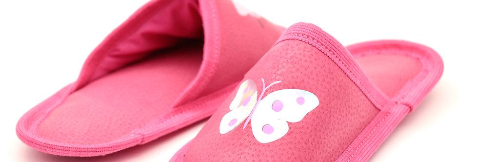 Usnjeni otroški natikači - Ciklam metuljček