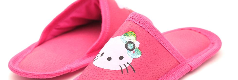 Usnjeni otroški natikači - Ciklam kitty