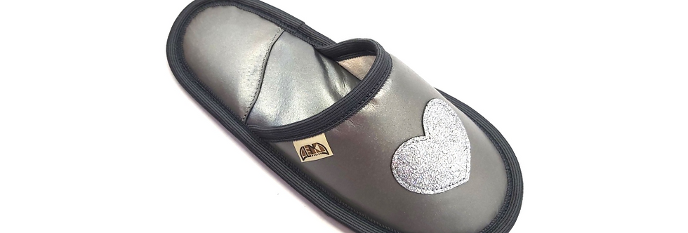 Usnjeni Copati Limited Edition - Silver heart