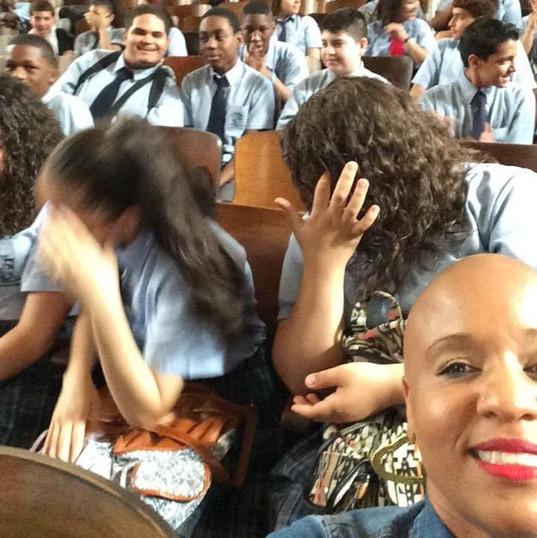 Preparing to Speak at Olney Charter High in Philadelphia PA