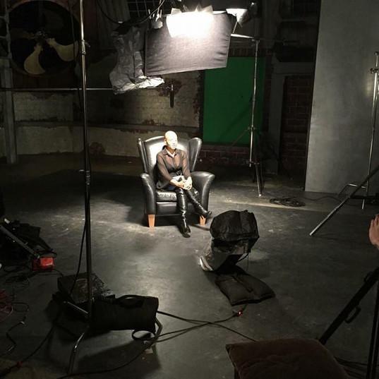 Preparing to Film Allen Iverson