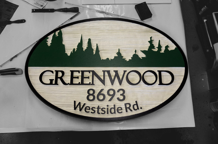 Greenwood Cedar Sign