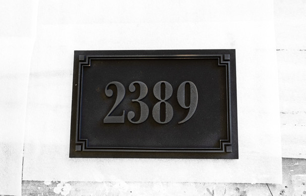 Address Plaque