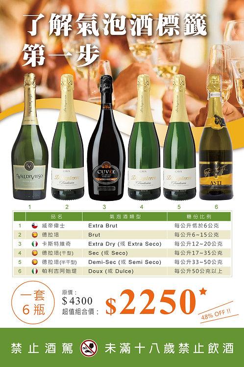 六種型態氣泡酒