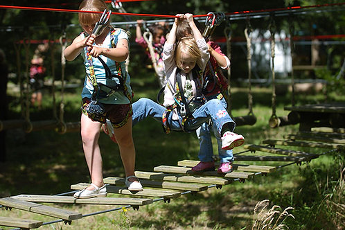 Tree climbing for children from 3 to 6 years old