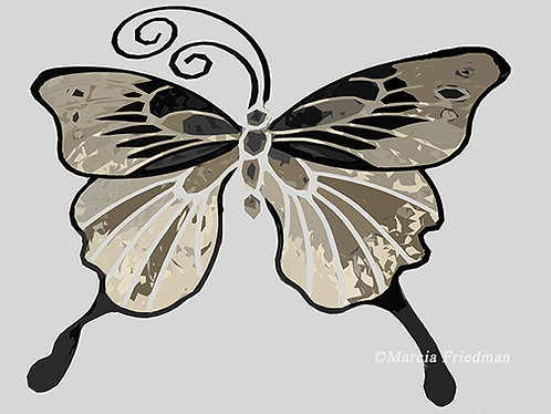 Butterfly in Shades of Beige