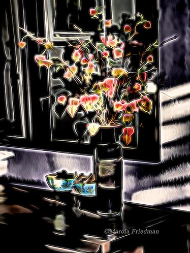 Oriental Flowers in a Vase