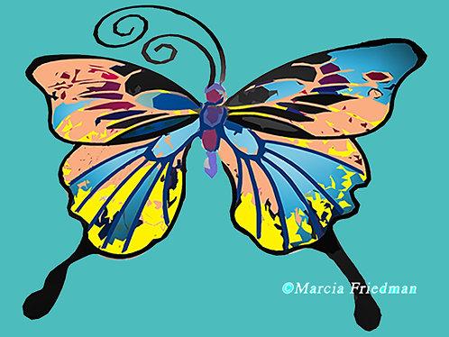 Butterfly in Aqua
