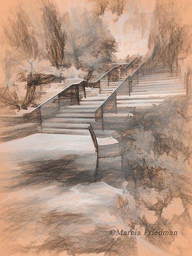 Stairway in the Garden of Days Gone By