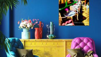 bright blue wall, fuschia & blue chairs, ylo 150dpi-Electric Cafe-New USE__ .jpg
