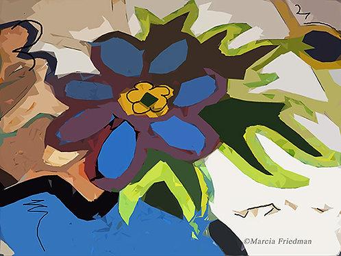 Blue Flower & Graffiti