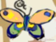 Butterfly pop art - peach-USE 6x4 72.jp